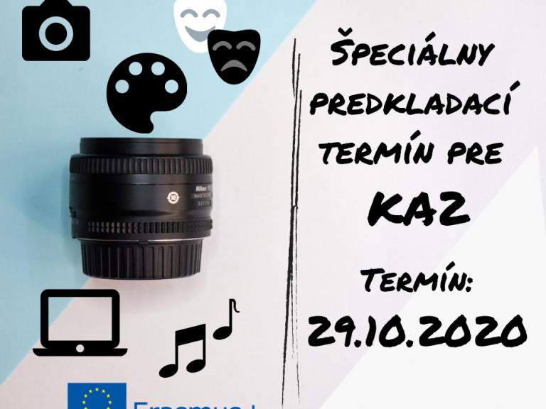 Špeciálny predkladací termín pre KA2 (003) (002)